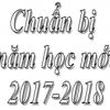 Chuẩn bị năm học mới 2017-2018