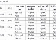 Lịch kiểm tra HK I năm học 2018-2019 (có thay đổi)